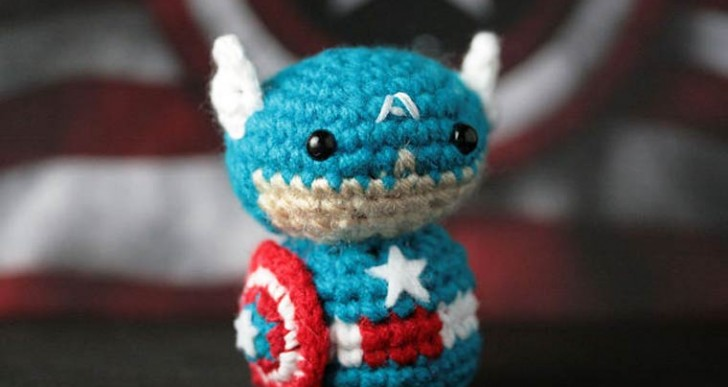 Adorables superhéroes en crochet por Geeky Hooker